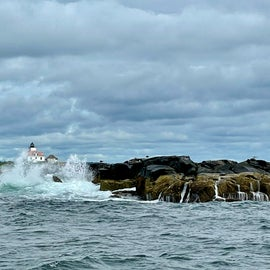 Egg Rock Lighthouse in Acadia NP waters