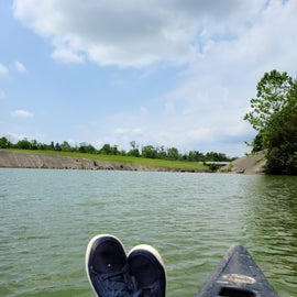 Canoeing at the dam