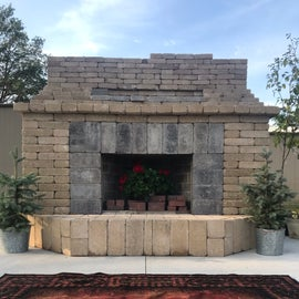 Community fireplace almost finished