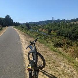 Bike trail right next to the KOA