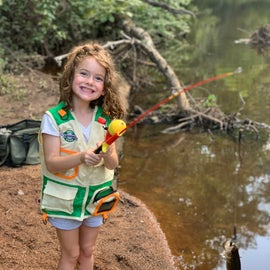 The creek runs right behind the buddy site and my daughter caught her first fish there!