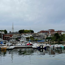 Camden Harbor from the water