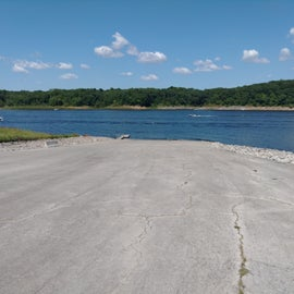 wide boat ramp for campers only