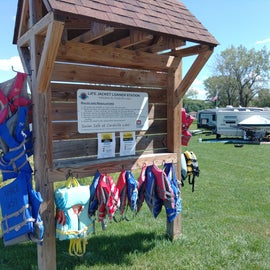 COE loan PFDs! kiosk located at boat ramp