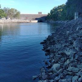 Coralville Dam , Iowa River below