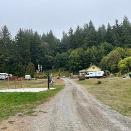 entrance to camp.