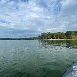 looking back at CG from lake