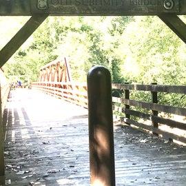 old sublimity foot bridge
