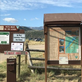 Fee station and campground information