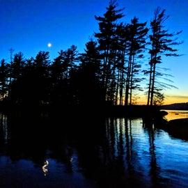 Moonlit view!