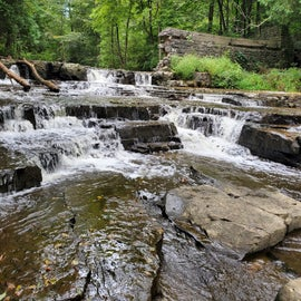 The beautiful waterfall that you can go to right from the campground!