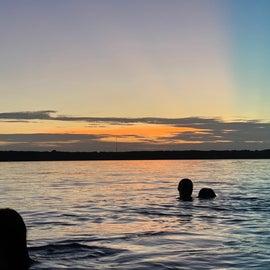 Sunset swimming!