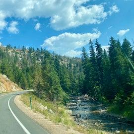 Drive to Gordon Gulch through Boulder Canyon was gorgeous through Arapaho & Roosevelt National Forests Pawnee National Grassland, Nederland, Eastern Rockies Corridor, United States