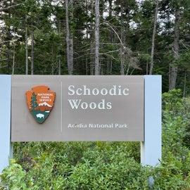 Schoodic Woods entrance sign- ANP
