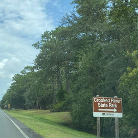 Look for this sign from the only road leading you north to Crooked River State Park