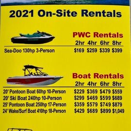 Rentals at the Campground Area