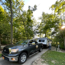 Our campsite at Punderson State Park, Newbury, OH. Sept 2021.