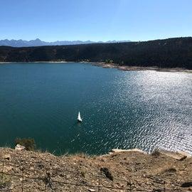 Looking down on lake