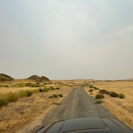 The road leading to the campground