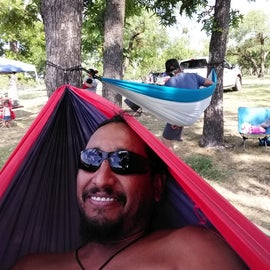 Me and my dad chillin in the hammocks