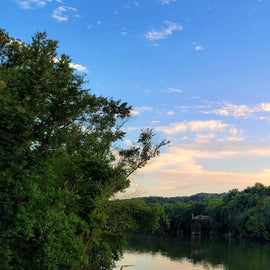 looking inland along the KY River