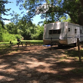 Typical RV campsite