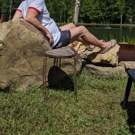 Mikel on the rock chair