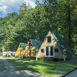 beautiful A frame cabins