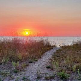 Beautiful sunrise over the lake!