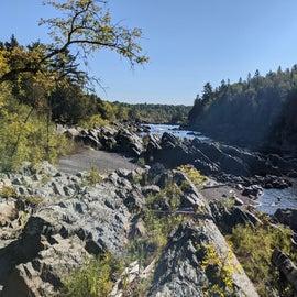 View from the swinging bridge