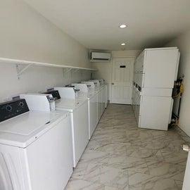 brand new laundry facility