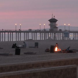 Fire pits on the beach