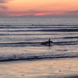 Surfing at Old Man's, San Onofre State Beach