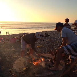 Bonfire pits at Old Man's