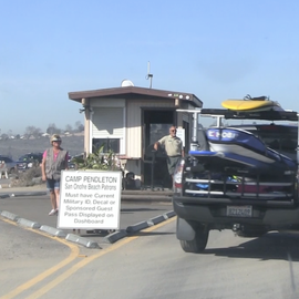 Entrance to Old Man's surf area at San Onofre State Beach