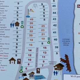 Campground map for Two Rivers Campground, Maine
