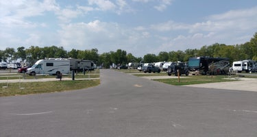Woodside Campground, Scott County Park Iowa