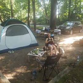 Overall campsite, pardon the mess!