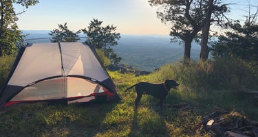 Pinhoti Trail Backcountry Campground with lookout