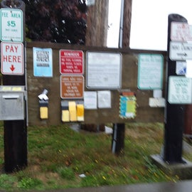info and pay area by boat dock