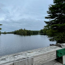 View of Pawtuckaway lake from bridge
