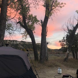 Besutiful sunset from our campsite