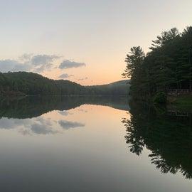 Sunrise on Douthat Lake