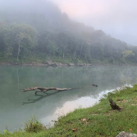 Beautiful river in the dreamy morning.