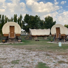 If you don't want to camp, stay in a wagon, cabin or teepee