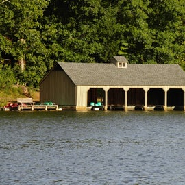 Boat House from across the Lake
