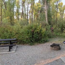 single campsite