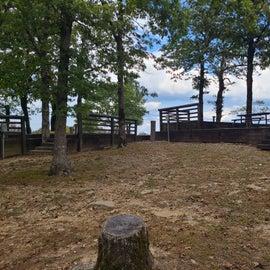 Back side of camp sites