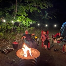 Lights, a Fire, and Guests