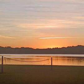 sunset on the lake!